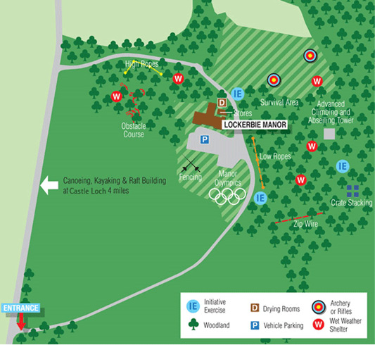lockerbie activity centre map